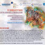 Archivio programmi Scuola Estiva di Sociologia delle Migrazioni (L'edizione 2020 si terrà dal 6 al 10 luglio)
